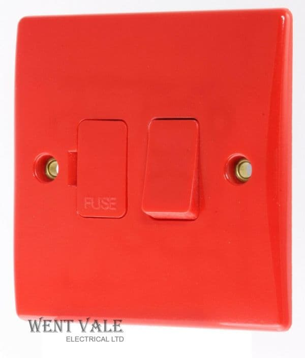 Schneider Ultimate Slimline - GU5010RD - Red 13a Switched Fused Connection Unit